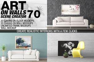 Canvas Mockups - Frames Mockups v 70