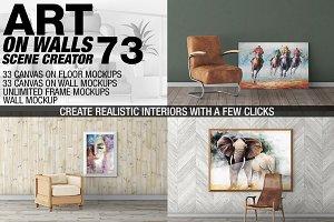 Canvas Mockups - Frames Mockups v 73