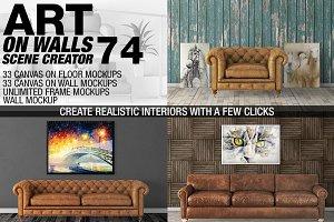 Canvas Mockups - Frames Mockups v 74