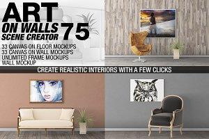Canvas Mockups - Frames Mockups v 75