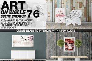Canvas Mockups - Frames Mockups v 76