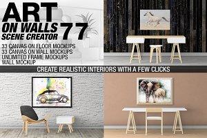 Canvas Mockups - Frames Mockups v 77