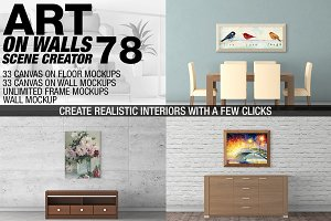 Canvas Mockups - Frames Mockups v 78