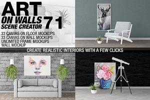 Canvas Mockups - Frames Mockups v 71