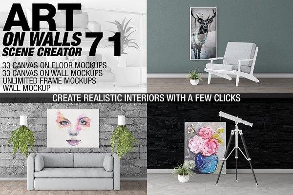 Canvas Mockups - Frames Mockups v 7…