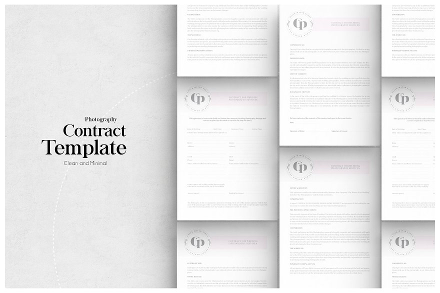Photographer licensing agreement flyer templates for Birth photography contract template