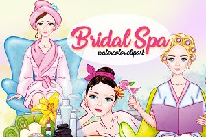 Bridal Spa Party Clipart Images