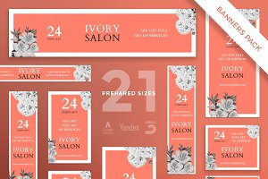 Banners Pack | Ivory Salon