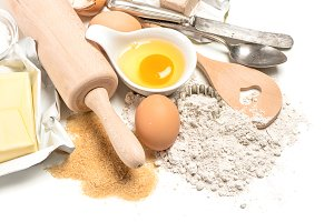 Baking Ingredients. Food Preparation
