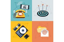 Set icons for web and mobile applica