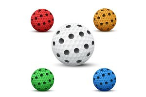Vector Floorball balls