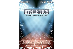 Sporting poster of athletics