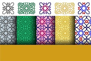 Set of arabic geometric patterns
