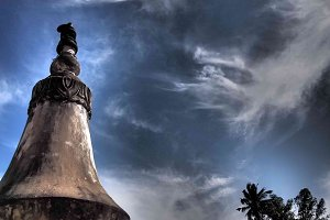 Stupa with Blue Sky