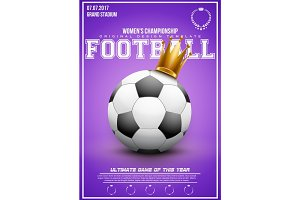 Sporting poster of women football