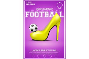 Sporting poster of womens football