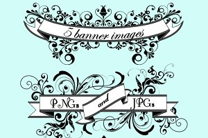 Floral Banners Vectors and Clipart