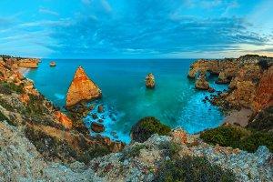 Algarve summer ocean coast