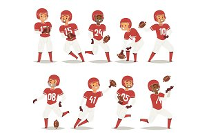 Baseball team player in uniform game poses situation professional league sport characters winner vector illustration