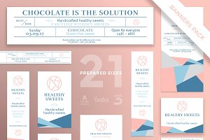 Banners Pack | Sweets