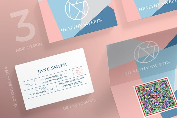 Business Cards Sweets Business Card Templates Creative Market