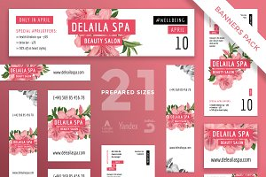 Banners Pack | Delaila Spa