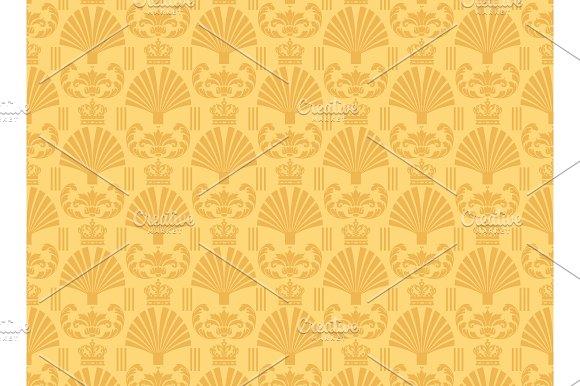 Yellow Background Chinese Wallpaper Patterns Creative Market
