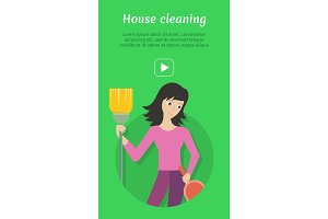Cleaning Service Ad Card, Banner, Poster, Fier