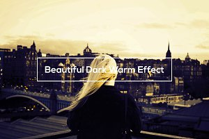 Beautiful Dark Warm Effect