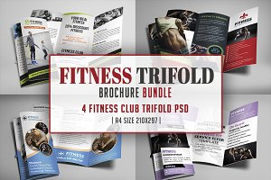 Fitness Trifold Brochures Bundle