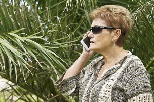senior woman with cellphone