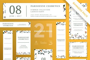Banners Pack | Parisienne Cosmetics