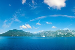 Bay of Kotor summer panorama