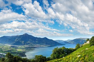 Lake Como summer panorama (Italy)