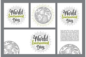 Set posters World environment day