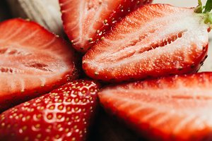strawberry close up macro