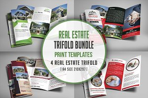 Real Estate Trifold Brochure Bundle