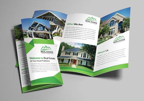 Real Estate Trifold Brochure Bundle Templates Creative Market