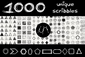 ⬛⬜ vector geometric scribbles SET-1