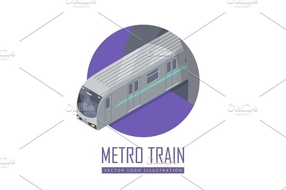 Speed Train Vector Icon In Isometric Projection