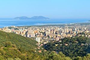 Vrore town (Albania) panorama