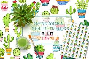 Cactus & Succulent Elements + Bonus