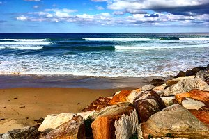 Beach Rocks and Sand