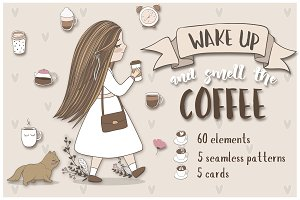 Cute coffee clipart