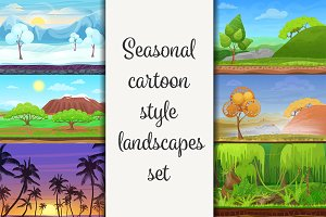 Seasonal landscapes collection