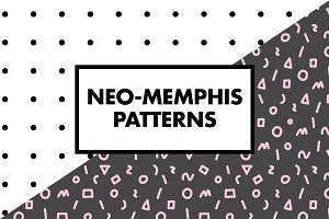 Memphis Patterns + Poster Layout