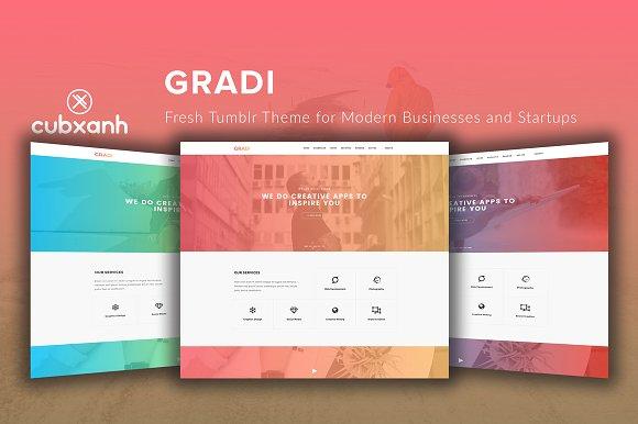 Gradi - Tumblr Theme for Startups
