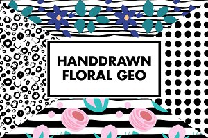 Floral Geometric Hand Drawn Patterns