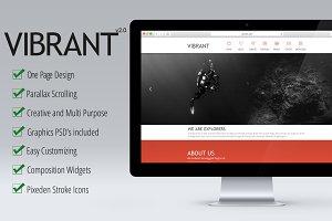 Vibrant - OnePage Parallax Muse Temp