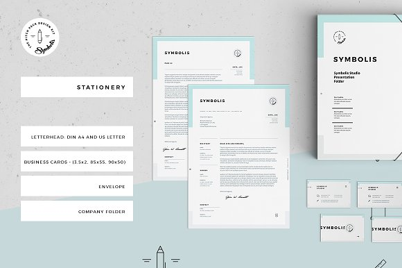 symbolis corporate stationery stationery templates creative market